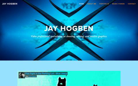 Screenshot of Home Page jayhogben.com - Jay Hogben - captured Aug. 22, 2017