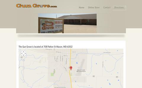 Screenshot of Maps & Directions Page gungrove.com - Gun Grove.com :: Directions - captured Oct. 7, 2014