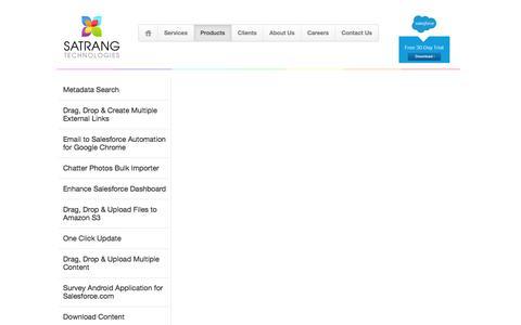 Screenshot of Products Page satrangtech.com - Satrang Technologies - Products & Apps - captured Feb. 3, 2016