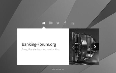 Screenshot of Home Page banking-forum.org - Banking Forum - captured April 3, 2016