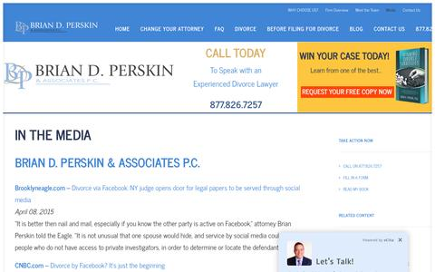 Screenshot of Press Page newyorkdivorceattorney.com - Media - Brian D. Perskin & Associates P.C. - captured April 24, 2017