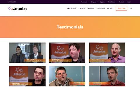 Screenshot of Testimonials Page jitterbit.com - Testimonials Archives | Page 2 of 2 | Jitterbit - captured April 11, 2017