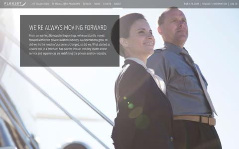 Screenshot of About Page flexjet.com - About Us   Flexjet - captured June 6, 2017