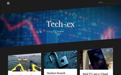 Screenshot of Home Page tech-ex.net - Tech-ex - Tech-ex - captured Oct. 29, 2018