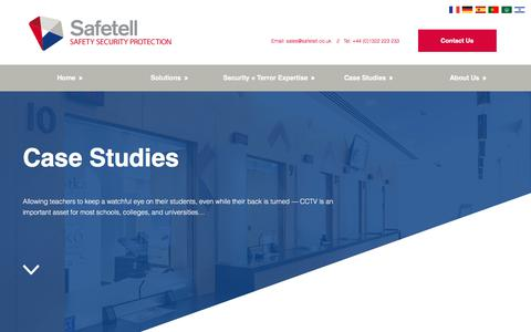 Screenshot of Case Studies Page safetell.co.uk - Case Studies and Projects - Physical Security and Counter Terror Solutions - captured Dec. 21, 2017