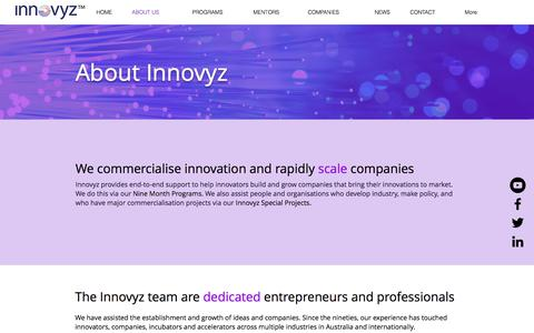Screenshot of About Page innovyz.com - About us I Adelaide I Innovyz - captured June 7, 2017
