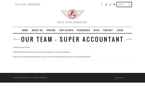 Screenshot of Team Page superaccountant.co.uk - Our Team - Super AccountantSuper Accountant - captured Oct. 8, 2014