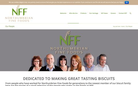 Screenshot of Team Page northumbrianfinefoods.com - Northumbrian Fine Foods - our amazing and hard working staff - captured Sept. 20, 2018