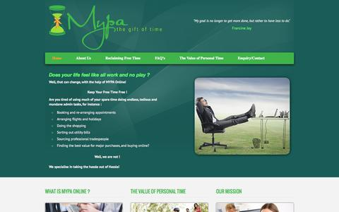 Screenshot of Home Page mypa.uk.com - Home   Mypa - captured Jan. 28, 2015