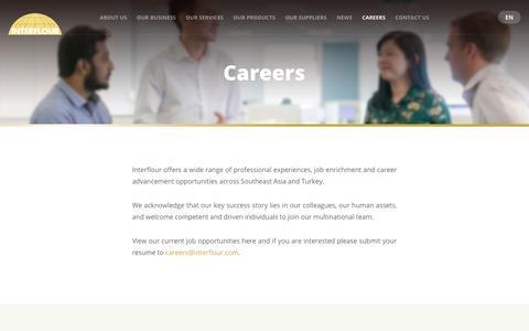 Screenshot of Jobs Page interflour.com - Careers - captured Sept. 26, 2018