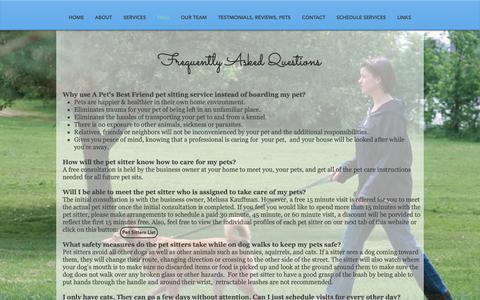 Screenshot of FAQ Page Maps & Directions Page apetsbestfriend.com - A Pet's Best Friend | FAQs - captured Oct. 25, 2018
