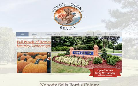Screenshot of Home Page fordscolony.com - Ford's Colony Real Estate | Williamsburg, VA | Ford's Colony Realty - captured Oct. 10, 2018