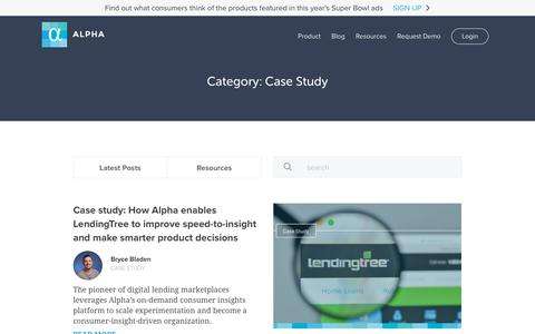 Screenshot of Case Studies Page alphahq.com - Case Study Archives - Alpha - captured Feb. 8, 2019