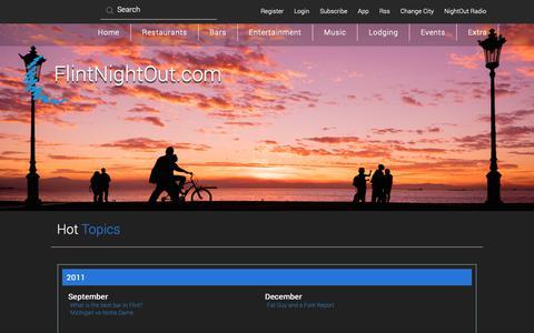 Screenshot of Blog flintnightout.com - FlintNightOut.com Flint MI NightLife, Events, Restaurants, Bars, Music, Entertainment, Hotels - captured Oct. 24, 2018