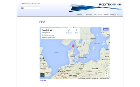Screenshot of Maps & Directions Page polyteknik.com - POLYTEKNIK AS Location - captured Oct. 3, 2014