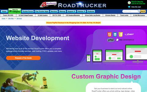 Screenshot of Services Page roadtrucker.com - Website Design & Software Services - captured Nov. 15, 2018