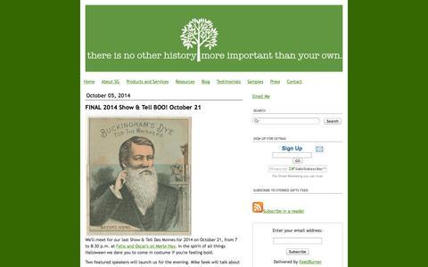 Screenshot of Blog storiedgifts.com - Storied Gifts - captured Oct. 7, 2014