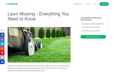 Lawn Mowing: Everything You Need to Know | LawnStarter