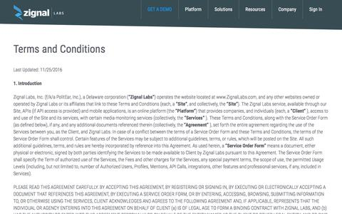 Terms and Conditions - Zignal Labs