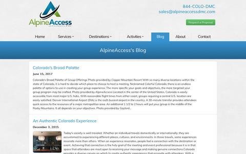 Screenshot of Blog alpineaccessdmc.com - AlpineAccess BLOG - captured Oct. 8, 2017