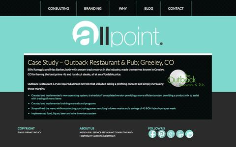 Screenshot of Case Studies Page allpoint.org - Case Studies - captured Oct. 4, 2014