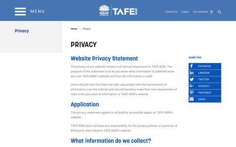 Privacy - TAFE