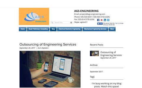 Screenshot of Blog ags-engineering.com - Blog | AGS-Engineering - captured Oct. 2, 2018