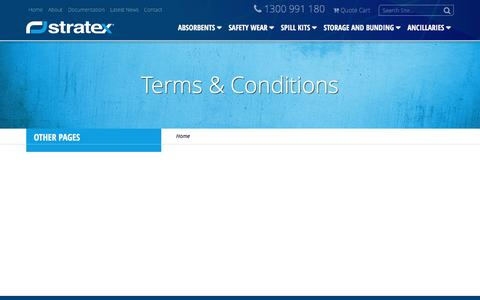 Screenshot of Terms Page stratex.com.au - Terms & Conditions - Stratex - captured Dec. 2, 2016