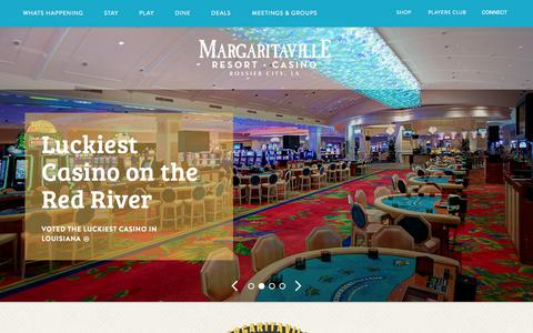 Screenshot of Home Page margaritavillebossiercity.com - Margaritaville | Home Page - Margaritaville - captured Sept. 12, 2015