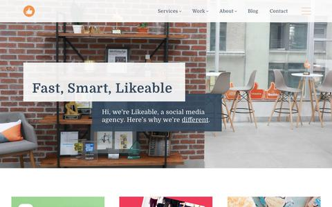 Screenshot of Home Page likeable.com - Likeable | Social Media Agency | Content Marketing Firm - captured Jan. 12, 2018