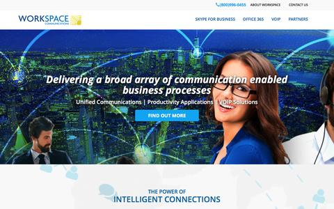 Screenshot of Home Page workspacecommunications.com - WorkSpace Communications - captured Aug. 17, 2016