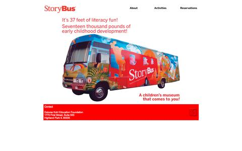 Screenshot of Home Page storybus.org - StoryBus: America's Children's Museum on Wheels - captured Oct. 12, 2015