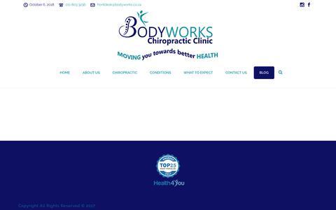 Screenshot of Blog bodyworks.co.za - Blog – Bodyworks - captured Oct. 6, 2018