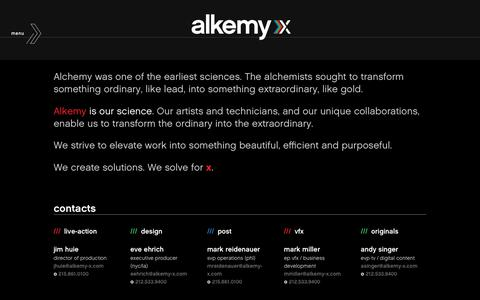 Screenshot of Contact Page alkemy-x.com - Alkemy X | Contact - captured Oct. 14, 2018