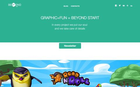 Screenshot of Home Page beyondstart.it - Beyond Start - captured Oct. 5, 2014