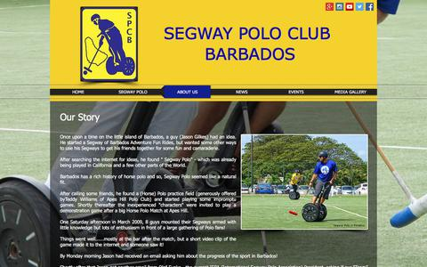 Screenshot of About Page segwaypoloclubbarbados.org - About Us - captured Feb. 24, 2018