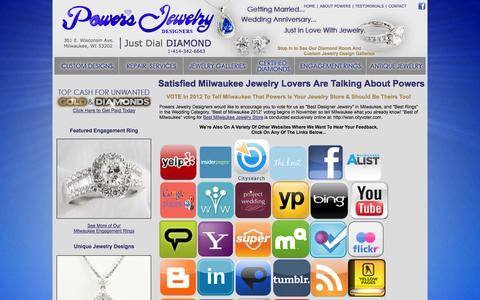 Screenshot of Testimonials Page milwaukee-jewelry.com - Milwaukee Jeweler Customers Talk | Satisfied Milwaukee Jewelry Customers | Powers Jewelry Designers Milwaukee Wisconsin - captured Oct. 3, 2014