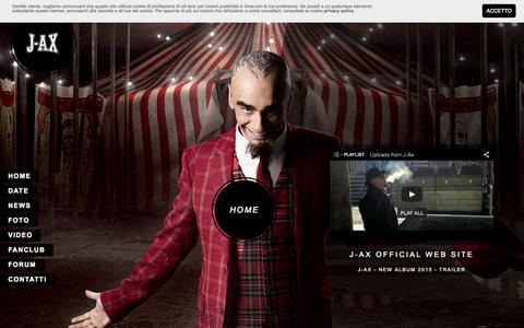 Screenshot of Home Page j-ax.it - J-AX Official Website - captured Oct. 9, 2015