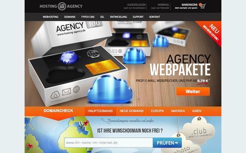 Screenshot of Home Page hosting-agency.de - Webhosting bei Hosting-Agency - captured Sept. 19, 2014
