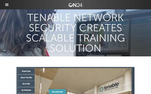 Screenshot of Case Studies Page on24.com - Case Study: Tenable offers 5-star on demand training   ON24 - captured Oct. 12, 2017