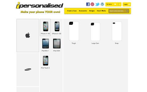 Screenshot of Products Page ipersonalised.com.au - iPersonalised - captured Jan. 9, 2016