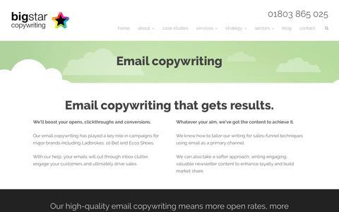 Email copywriting - Big Star Copywriting