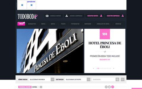 Screenshot of Home Page todoboda.com - Bodas Boda TodoBoda - captured Sept. 18, 2014