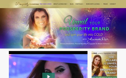 Screenshot of Home Page prosperitybranding.com - Crafting stunning website design and visual brands - captured Oct. 3, 2014