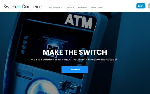 Screenshot of Home Page switchcommerce.com - Switch Commerce   ATM Transaction Processor - captured Oct. 20, 2018