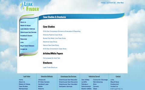 Screenshot of Case Studies Page leakfinderinc.com - Capabilities - Leak Finder - Leak Finder Inc. - captured Sept. 29, 2014