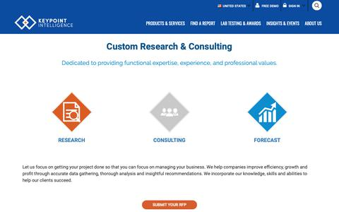 Screenshot of Pricing Page keypointintelligence.com - Custom Research & Consulting - Keypoint Intelligence - captured Nov. 14, 2018