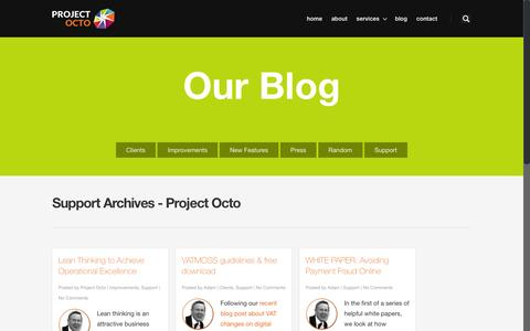 Screenshot of Support Page project-octo.com - Support Archives - Project Octo - captured Aug. 2, 2016