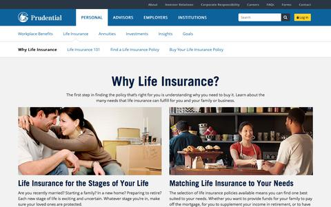 Why Life Insurance | Prudential Financial