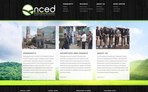 Screenshot of Home Page nodaway.biz - Nodaway County Economic Development - Where Business Starts. - captured Oct. 18, 2018